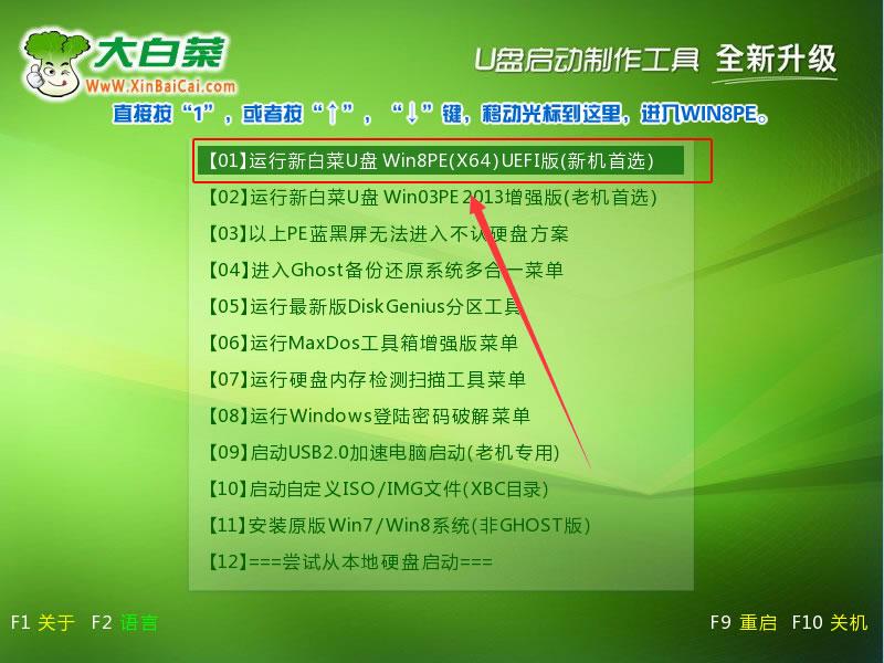 新白菜超级U盘启动盘制作工具V8.0(自由UEFI版)